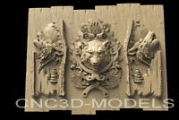 3D STL Models for CNC Router Carving Artcam Aspire Wolf Hunting Pano Animal D190