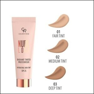 Golden Rose Nude Look Radiant Tinted Moisturiser SPF25  Protection for Skin