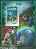 MOZAMBIQUE 2014 BEARS SOUVENIR SHEET  MINT NH