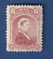 Newfoundland stamps #35 6c Queen Victoria 1870 F/VFmnh see details