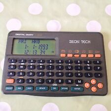 Zeon Tech organizer personale DIGITAL DIARY 3kb OROLOGIO CALCOLATRICE Scheduler RARA