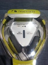 #1850 Nakamichi NK2000 Headphones Amplified Stereo Mic PeaGreenYellow NEW Remote