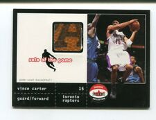 2001-02 Fleer Shoebox Collection Vince Carter Sole of The Game Basketball Relic