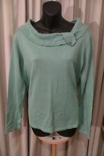 VINTAGE Style 50'S ~ FIELDS ~ Green Collar Feature JUMPER ~ Size M ~