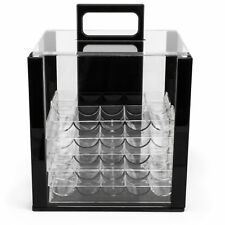 Brybelly Acrylic Poker Chip Carrier with Chip Trays, Holds 1,000 Poker Chips