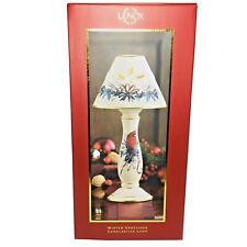"Lenox WINTER GREETINGS Cardinal Ceramic Votive Candlestick Lamp Shade 13-1/2"""