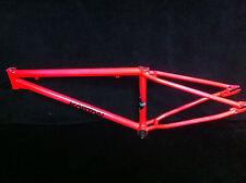 """RARE Restored Day Glo Pink 24"""" KASTAN KEX JUNIOR CRUISER FRAME Old School BMX"""