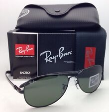 Ray-Ban Sunglasses RB 8301 002 Tech 59-14 Black&Carbon Fiber Frames Green Lenses