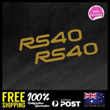 "2x SUBARU "" RS40 "" REAR WING STICKER DECAL CAR RACING JDM 150x27mm"