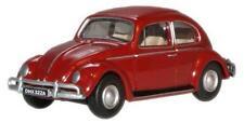 """1/76 OO Scale Volkswagen """"VW"""" Beetle Ruby Red w/Display Case Oxford #76VWB002"""