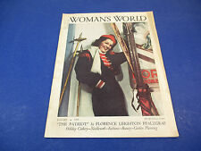 Womans World Magazine January 1939 Winter Skiing Cover Art by Maginel Barney