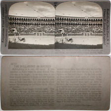 Keystone Stereoview of the Bull Fight in Madrid, SPAIN From RARE 1200 Card Set