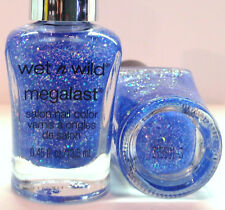 Wet N Wild Megalast Salon Nail Polish # 34289 Up in the Air Holographic Blue LTD