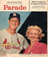 1958 Roanoke Times Sunday Magazine, Baseball, Stan Musial, St. Louis Cardinals