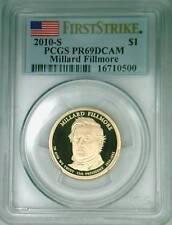 2010-S PCGS PR69DCAM proof Fillmore dollar FIRST STRIKE