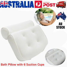 Breathable 3d Mesh Spa Bath Pillow With 6 Suction Cups Neck Back Support Cushion