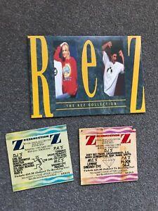Rezerection Rave ticket stubb x2 and merchandise booklet joblot 1993