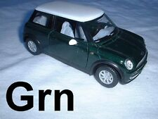 "Mini Cooper Metal Die-Cast Car 1:28 Scale 5"" Long Toy 02 03 04 05 06 07 08 09-11"