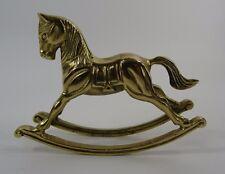 Vintage Brass Rocking Horse carousel pony figurine
