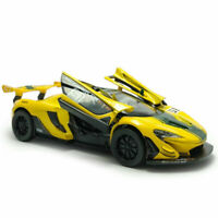 McLaren P1 GTR 1/32 Model Car Diecast Toy Kids Collection Gift Pull Back Yellow