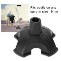 NEW Cane Tip Self Standing Rubber Base Support Anti-slip Walking Cane Pad 19mm