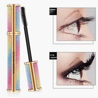 4D Seidenfaser Wimpern Mascara Extension Makeup Schwarz Wasserdichte Wimpern Neu
