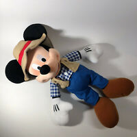 Disney Mickey Mouse Plush Camper Fisherman Disney Parks 15""