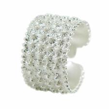 Fede sarda fascia aperta 4 file pallini argento MISURA REGOLABILE