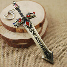Sword Creative KeyChains Ring Hot Game Weapon Model Metal Key Chain Pendant ""