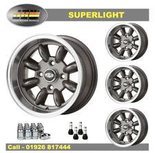 7x 13 Superlight Wheels Classic Ford Set of 4 Gunmetal