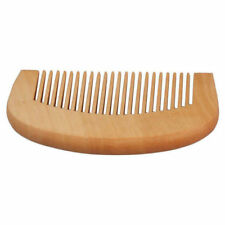 2* Wooden Hair Engraved Natural Peach Wood Comb Anti-Static Beard Comb Tool