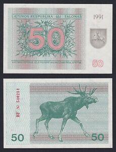 Lituania 50 talonas 1991 FDS/UNC  C-06