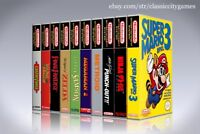 NEW custom game storage cases YOU CHOOSE THREE NES TITLES -No Game- NINTENDO 3