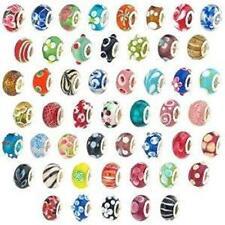 20 Pc Lot Lampwork Murano Glass European Mix Beads For Snake Chain Charm Bracele