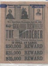 OLD WEST - Repro. - Mise à Prix pour la conspiration de l'enlèvement du Présiden