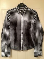Gilly Hicks Women's Black Checkered Long Sleeve Shirt Size S