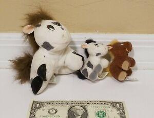 Vintage Pound Puppies Horse Family Plush Stuffed Animals Galoob Toys 1997 Used