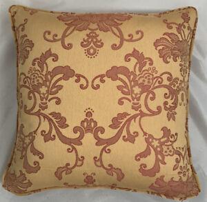 A 16 Inch cushion cover in Laura Ashley Genova Gold Fabric