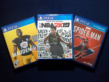 NBA2K19 ,Madden 19 & Marvel Spider-Man