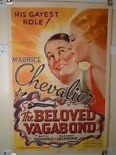 1936 BELOVED VAGABOND 1SHT- MAURICE CHEVALIER MUSICAL