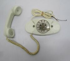 Vtg 1970s Bell Western Electric Princess Phone Telephone Rotary Dial White As Is