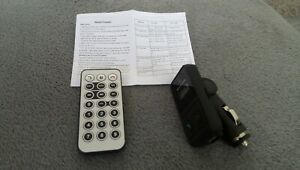 Transmetteur FM pour autoradio voiture et kit main-libre bluetooth