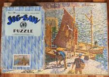 CHAD VALLEY RARE BOXED 1938 GWR WOOD JIGSAW CORNWALL PREPARING FOR A CATCH 150pc