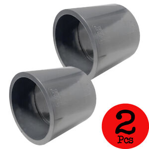 Lot of 2 PCS Sch 80 PVC 4 Inch Straight Coupling Socket Connect