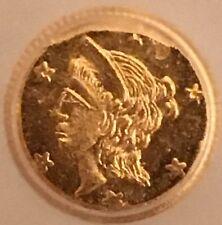1858-Dated California 1/4 Dollar Gold Token.  ICG MS65.