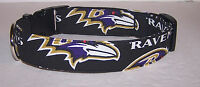 Wet Nose Designs Baltimore Ravens Hand Made Dog Collar Football NFL