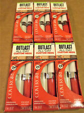 LOT of 6 ~Custom Coral #800 ~ CoverGirl Outlast All Day Custom Reds Lipcolor
