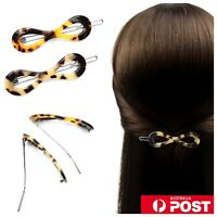 Oval Gold Wave Metal Ponytail Holder Pin Hairpin Clasp Hair Clip Barette Womens