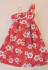 Justice Girl's Red Floral Tropical One-Shoulder Knit Sun Dress Girl Size 8 NEW