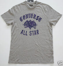 NUEVO All Star Converse Camiseta Camisa Para Hombres Chucks GRIS T. M León